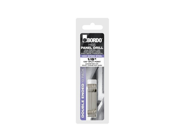 Bordo 1/8 Bright Double Ended Panel Drill 10Pack