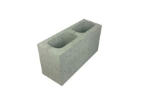 Concrete Grey Block Full Length Hollow