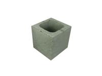 Concrete Grey Block Half Length Hollow