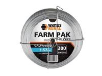 Whites Tie Wire Galv 1.57MM X 200M