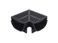 Everhard COMPACT Corner with Polymer Grate 80mm