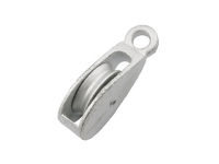 Single Wheel Awning Pulley 50mm ZP